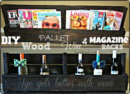 diy how to make a wine or magazine rack out of a wood pallet