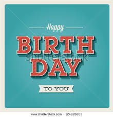 happy birthday card invitation candle number stock vector
