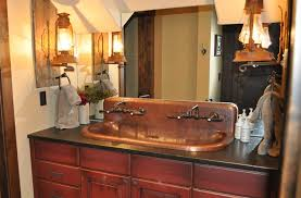 Copper Trough Sink High Back Built To Order Mountain Copper Creations Copper Bathroom Fixtures