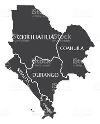 sinaloa mexico map chihuahua coahuila sinaloa durango nayarit map mexico illustration