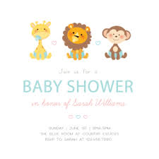 baby animals free printable baby shower invitation template