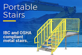 prefabricated metal stairs aluminum steps u0026 work platforms