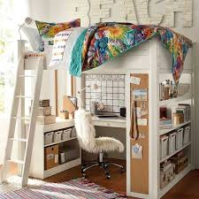 chambre fille avec lit mezzanine chambre fille en 105 idées de design et décoration chambre