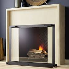Decorative Fireplace decorative fireplace screens crate and barrel