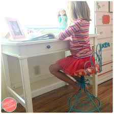 child s dressing table and chair updating a vintage vanity chair to use for child s desk vintage