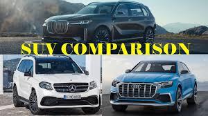 bmw x7 vs audi q7 2018 bmw x7 vs audi q8 vs mercedes gls luxury suv