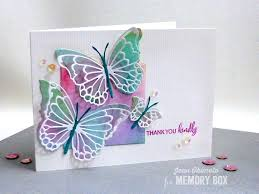 memory box morning garden butterflies dies as an overlay with the