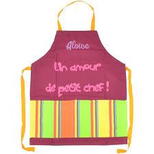 tablier de cuisine enfant personnalisé tablier de cuisine enfant personnalisé un amour de petit chef