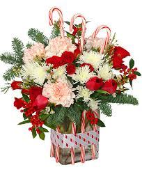florist ocala fl peppermint pleasures deluxe christmas bouquet in ocala fl blue