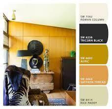 office studio desk wall artichoke paint color sw 6179 by sherwin