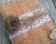 Shabby Chic Wedding Guest Book wedding guest book guestbook lace shabby chic by decoriswedding