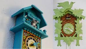 art wall cuckoo clock installation from the land of wandawega