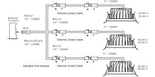 three down lights per channel drawing mht lighting