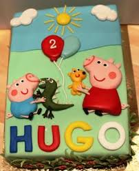 George Pig Cake Decorations Peppa Pig George Cake Sugar Cakes Cookies Cupcakes Pinterest