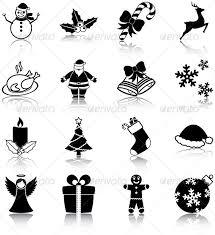 christmas related icons plutofrosti graphicriver