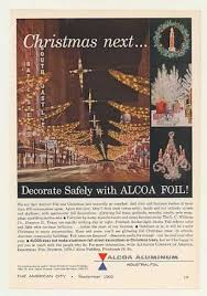 Commercial Foil Christmas Decorations by Vintage Xmas Advertisements Of The 1960s