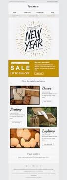 Home Decor Industry New Year Email Template Stylish Interior For Furniture Home