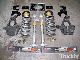 Classic Ford Truck Lowering Kits - lowering kit exhaust grille chevy silverado truckin u0027 magazine