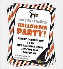 free printable halloween birthday party invitations templates