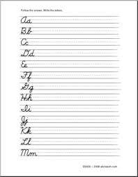 practice alphabet cursive alphabet letters handwriting practice elementary