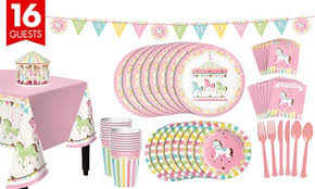 baby shower kits pink carousel baby shower supplies pink carousel baby shower