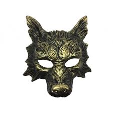 wolf mask animal wolf mask gold