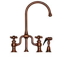 shop whitehaus collection twisthaus antique copper 2 handle deck