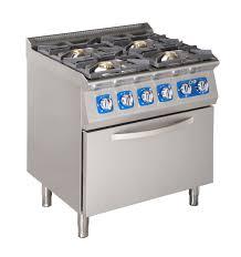 fourneaux de cuisine fourneau 4 feux sur four a gazélectrique