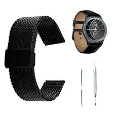 black stainless bracelet images Samsung gear s2 classic watch band black mesh bracelet screen jpg