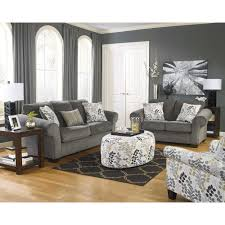 charcoal grinlyn living room group 7 pc with 3 pc occasional