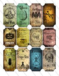 151 best halloween potion bottle labels images on pinterest