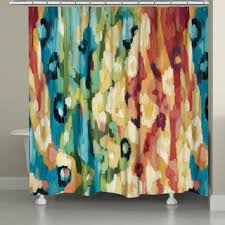 laural home green ikat shower curtain 71 inch x 74 inch free