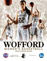 2016 17 wofford women u0027s basketball media guide by wofford