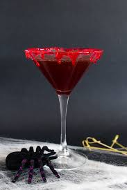 red martini splash cranberry halloween bloody martini sofabfood cocktail