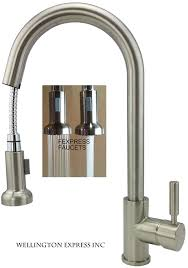 kitchen sink faucet with pull out spray wellington 1890 bn kitchen sink faucet single handle with pull out
