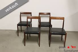 Esszimmerst Le Leder Design X Lübke Palisander Esszimmerstühle Mid Century