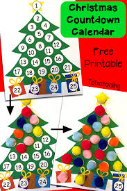 countdown printable advent calendar totschooling