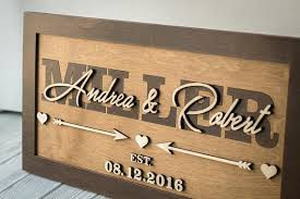 wedding plaques personalized last name established sign rustic wood sign custom wedding