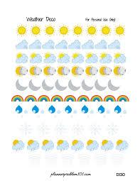 free printable planner weather stickers printables and menu