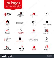 Interior Design Magazine Logo Vector Flat Architecture Company Logo Collection Design Studio