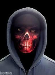 scary halloween scary halloween face mask horror red grim reaper fancy dress