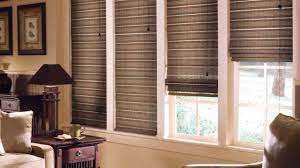 interior brown horizontal striped lowes blinds sale for window