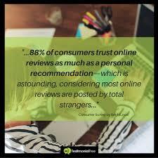 marketing stats consumers trust reviews testimonial