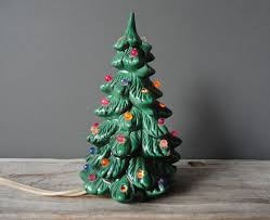 christmas small christmas tree with lights decoration ceramic