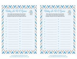 abc writing paper baby abc s baby shower game elephant baby shower theme for baby baby abc game printable download blue gray baby shower game b3004