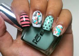 nail art anchor beautify themselves with sweet nails
