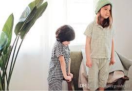 summer pajamas korean style boy sleeve pajama