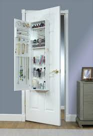 Jewelry Full Length Mirror Armoire White Armoires Wardrobe Space Saving Hanging Jewelry Airmore With