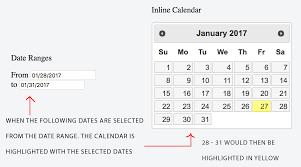 format date javascript jquery javascript jquery datepicker date range populates inline calender