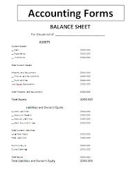Interim Balance Sheet Template Interim Balance Sheet Template 57 Images Company Restatement